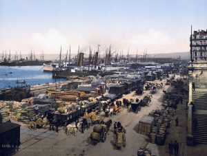 The La Joliette docks, Marseille, where Charles Deville Wells worked as an engineer in the 1860s-70s ... before breaking the bank at Monte Carlo.